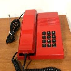 Teléfonos: TELÉFONO MODELO TEIDE COLOR ROJO, AÑOS 80, FUNCIONANDO PERFECTAMENTE, EL DE LAS FOTOS.. Lote 222610237