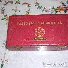 Antigüedades: ANTIGUO MEDIDOR DE HEMOGLOBINA FABRICADO EN ALEMANIA. Lote 222612881