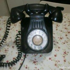 Teléfonos: TELÉFONO ANTIGUO DE DISCO BAQUELITA NEGR DE PARED BUEN ESTADO EXTERIOR, SIN PROBAR. Lote 222616247