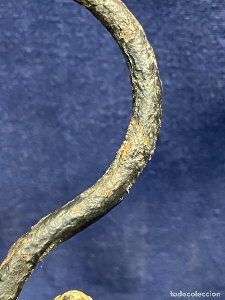Antigüedades: lampara carburo minero mineria mina francia fin s xix ppio xx bronce hierro ver fotos 21x10cms - Foto 11 - 222622797