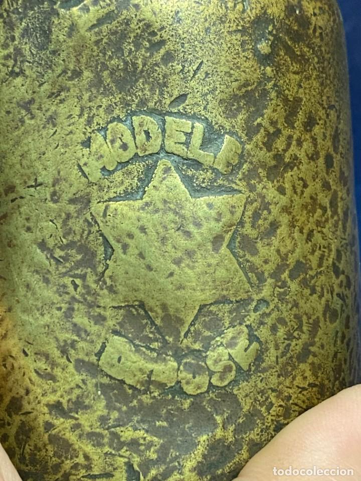 Antigüedades: lampara carburo minero mineria mina francia fin s xix ppio xx bronce hierro ver fotos 21x10cms - Foto 19 - 222622797