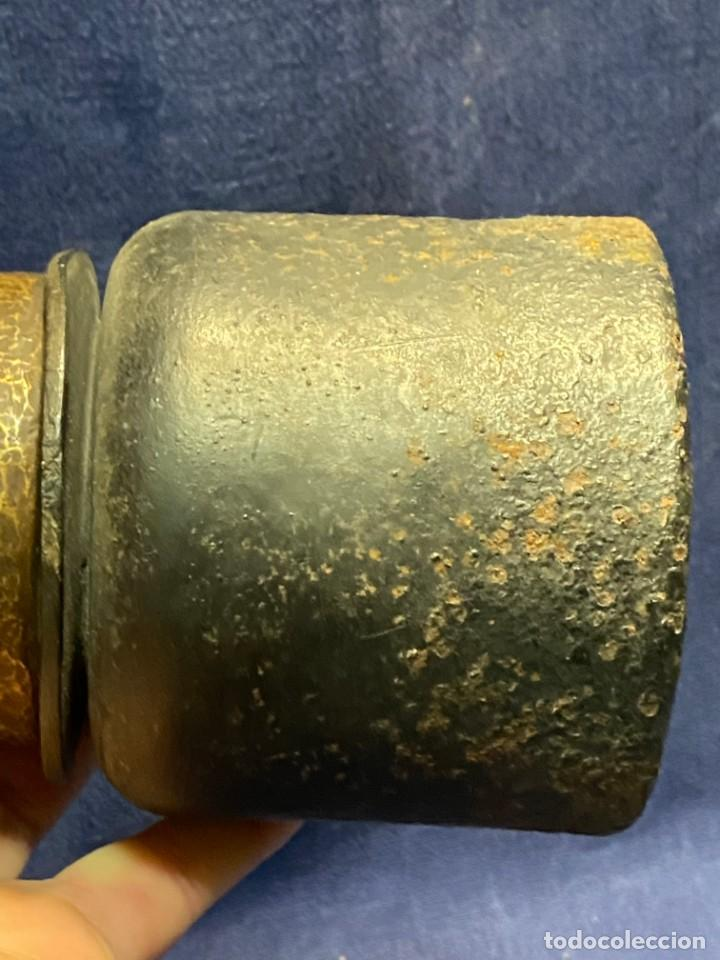 Antigüedades: lampara carburo minero mineria mina francia fin s xix ppio xx bronce hierro ver fotos 21x10cms - Foto 24 - 222622797