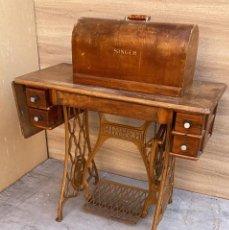 Antigüedades: MAQUINA DE COSER ANTIGUA MARCA SINGER FUNCIONANDO. Lote 222644405