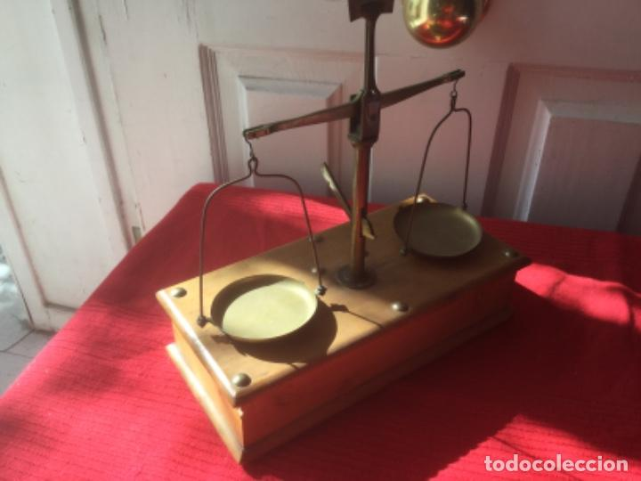 Antigüedades: Antigua Balanza y Pesas de Joyero. Lupa y Pinzas - Foto 10 - 222653585