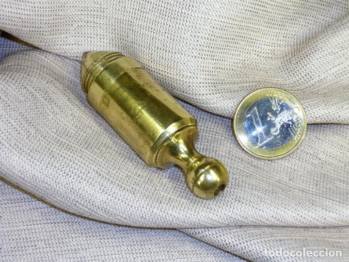 Antigüedades: Plomada Instrumental SIN Nuez. Cilindro Cono. Cabeza roscada. Plumb bob WITHOUT Nut. Threaded head. - Foto 4 - 222659795