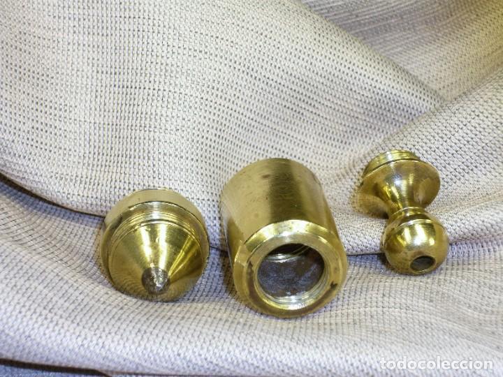 Antigüedades: Plomada Instrumental SIN Nuez. Cilindro Cono. Cabeza roscada. Plumb bob WITHOUT Nut. Threaded head. - Foto 6 - 222659795