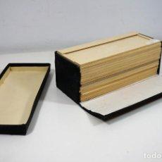 Antigüedades: MICROSCOPIO. ANTIGUA CAJA PARA PREPARACIONES MICROSCOPICAS C.1900. Lote 222681400