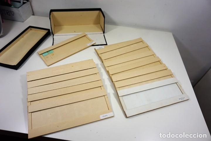 Antigüedades: MICROSCOPIO. ANTIGUA CAJA PARA PREPARACIONES MICROSCOPICAS c.1900 - Foto 9 - 222681400