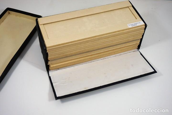 Antigüedades: MICROSCOPIO. ANTIGUA CAJA PARA PREPARACIONES MICROSCOPICAS c.1900 - Foto 10 - 222681400