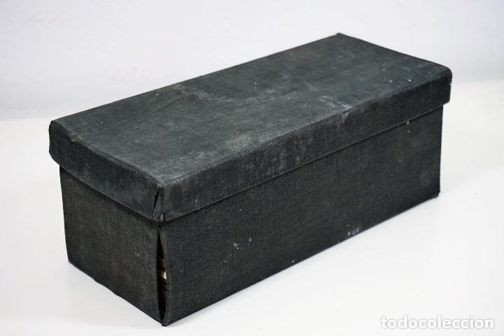 Antigüedades: MICROSCOPIO. ANTIGUA CAJA PARA PREPARACIONES MICROSCOPICAS c.1900 - Foto 11 - 222681400