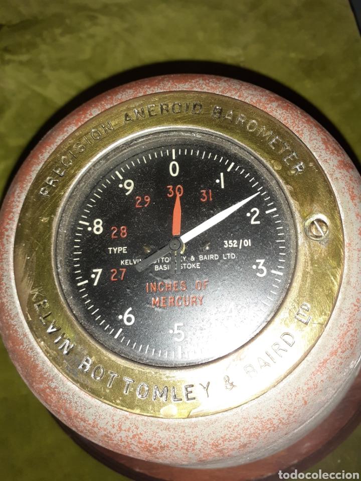 Antigüedades: Antiguo barómetro de barco - Foto 2 - 222708608