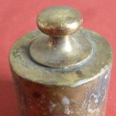 Antigüedades: PESA DE BRONCE 200 GR --- 200 GRAMOS C. A. BALLARIN BARCELONA (O SIMILAR). Lote 222801356
