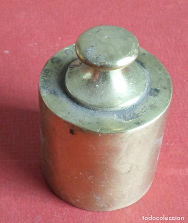 Antigüedades: Pesa bronce 500 gr. --- 500 gramos Ballarin Barcelona (o similar) - Foto 2 - 222802597