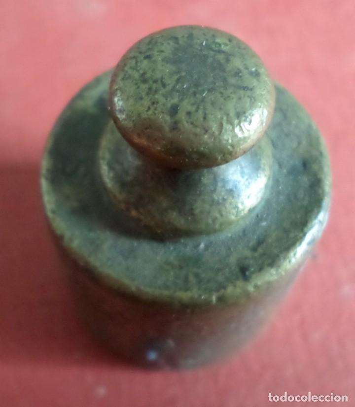 Antigüedades: Pesa bronce 100 gr. --- 100 - Foto 4 - 222802868