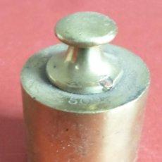 Antigüedades: PESA BRONCE 500 GR .-- 500 GRAMOS C. A. BALLARIN BARCELONA (O SIMILAR). Lote 222803092