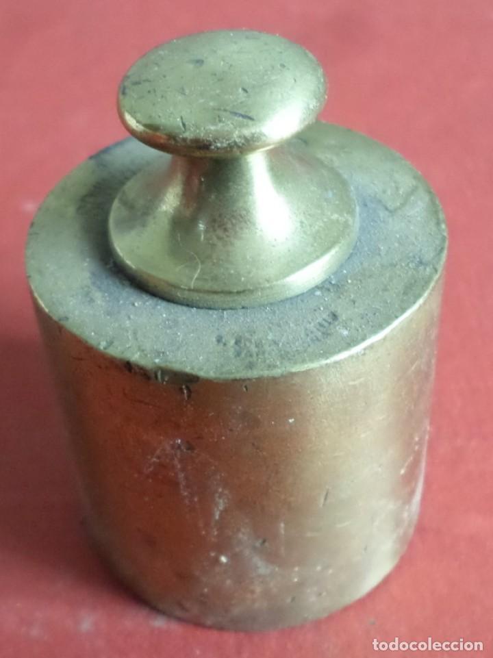 Antigüedades: Pesa bronce 500 gr .-- 500 gramos C. A. Ballarin Barcelona (o similar) - Foto 2 - 222803092