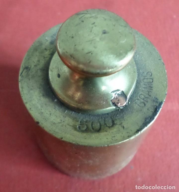 Antigüedades: Pesa bronce 500 gr .-- 500 gramos C. A. Ballarin Barcelona (o similar) - Foto 4 - 222803092