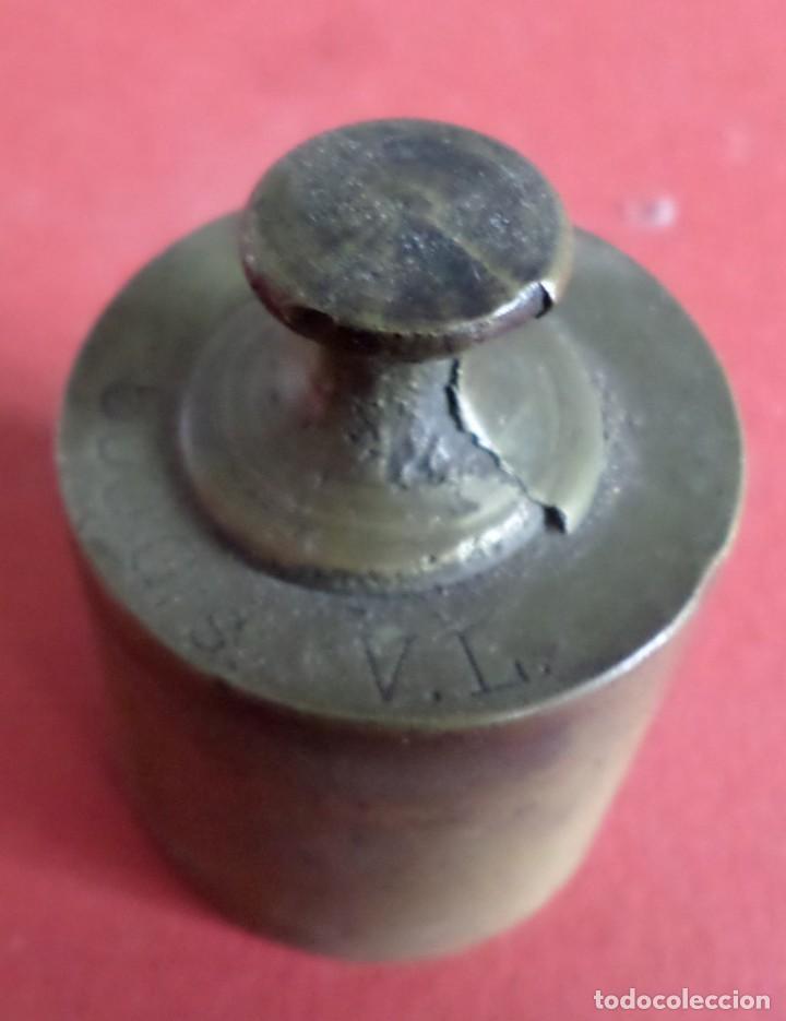 Antigüedades: Pesa bronce 500 gr. --- 500 Grs V.L. - Foto 3 - 222803307