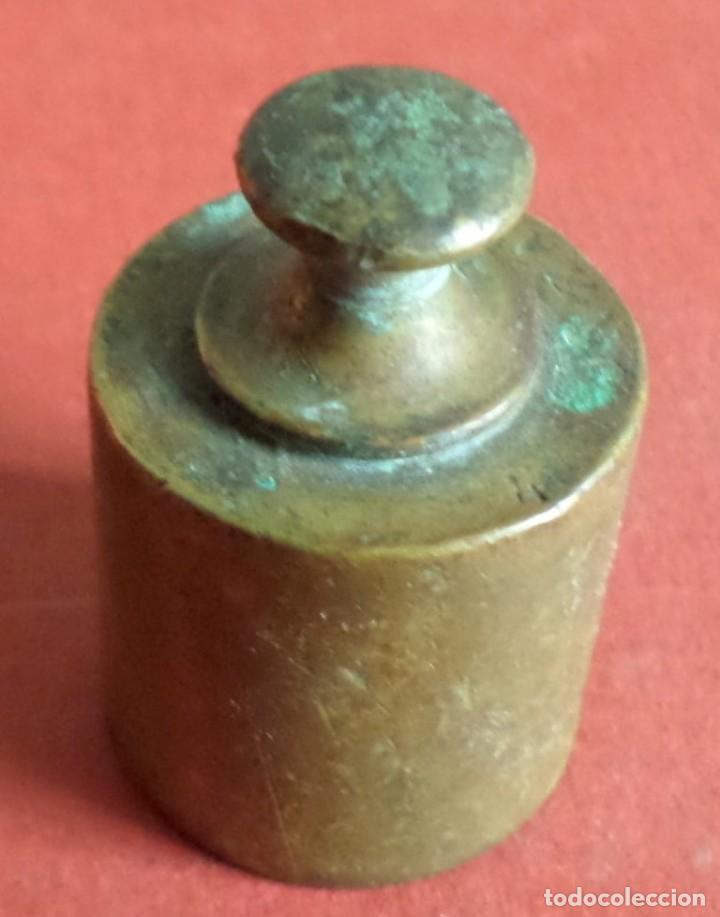 PESA BRONCE 100 GR.--- 4 ONZAS (Antigüedades - Técnicas - Medidas de Peso Antiguas - Otras)