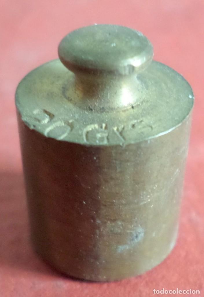 Antigüedades: Pesa bronce 20 gr. --- 20 Grs - Foto 2 - 222804770
