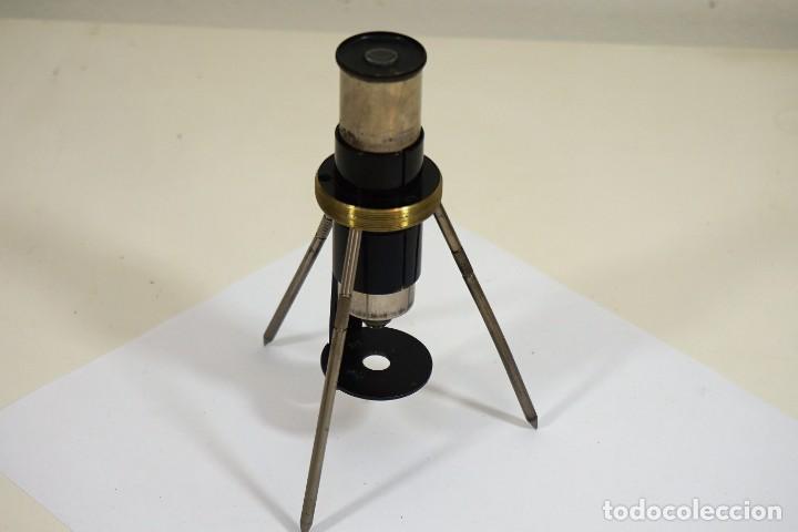 MICROSCOPIO DE BOLSILLO ALEMÁN 'SPINDLER & HOYER' C.1920 INCOMPLETO (Antigüedades - Técnicas - Instrumentos Ópticos - Microscopios Antiguos)