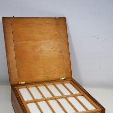 Antigüedades: MICROSCOPIO. ANTIGUA CAJA PARA PREPARACIONES MICROSCOPICAS C.1875. Lote 222808790