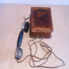 "Teléfonos: TELEFONO MADERA MURAL "" LA TELEPHONIE INTEGRALE "". Lote 222838803"