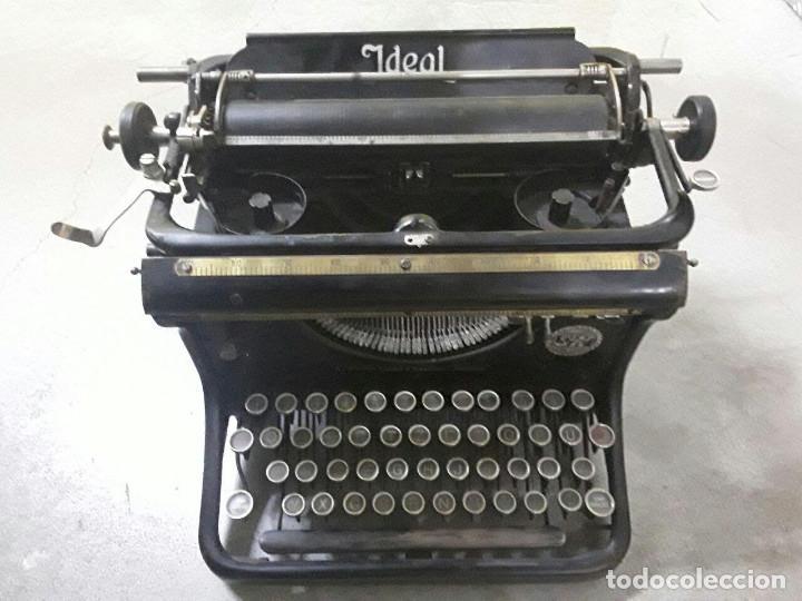 Antigüedades: Antigua y muy bonita máquina de escribir - Marca Ideal - Principios 1900´s - - Foto 2 - 222847802