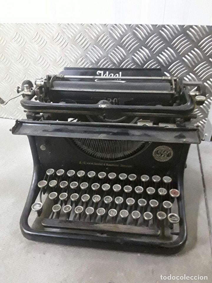 Antigüedades: Antigua y muy bonita máquina de escribir - Marca Ideal - Principios 1900´s - - Foto 3 - 222847802