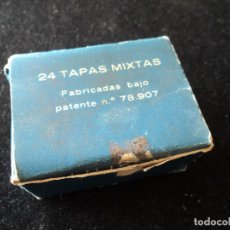Antigüedades: 15 ANTIGUAS TAPAS METALICAS DE ZAPATERO LILIPLAS Nº 107. Lote 222878883