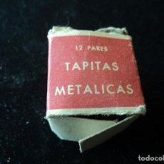 Antigüedades: 20 ANTIGUAS TAPAS METALICAS DE ZAPATERO CLASE ECONOMICA Nº 4. Lote 222879056