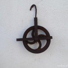 Antigüedades: POLEA ANTIGUA DE HIERRO. Lote 222942656