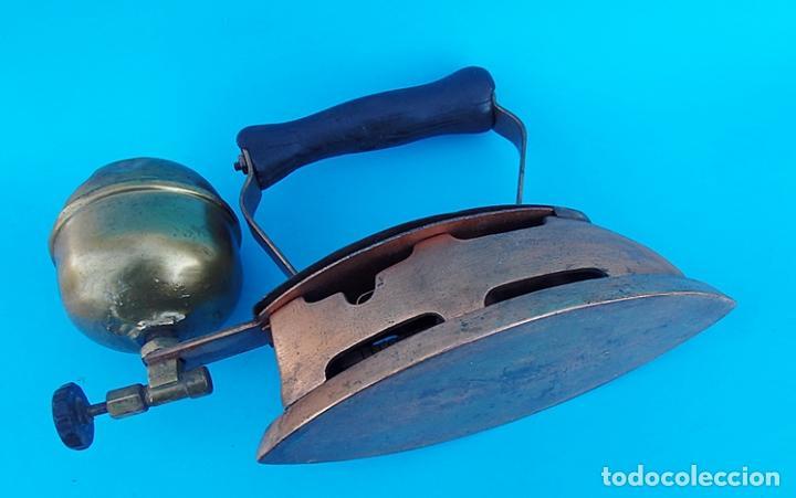 Antigüedades: ANTIGUA PLANCHA DE NAFTA O GASOLINA - Foto 6 - 223009152