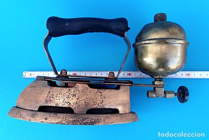Antigüedades: ANTIGUA PLANCHA DE NAFTA O GASOLINA - Foto 7 - 223009152