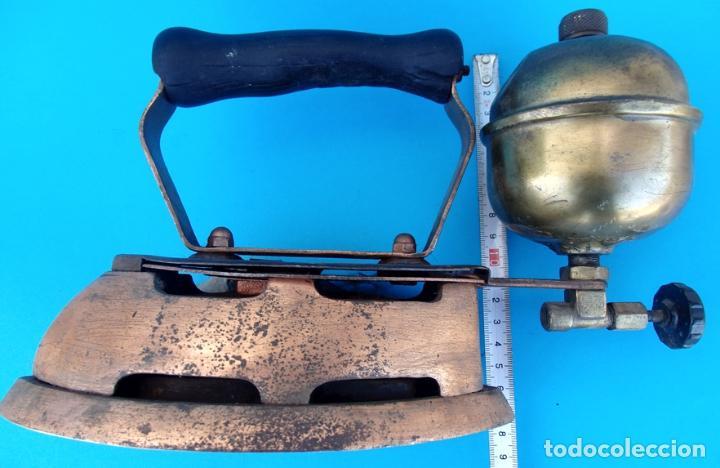 Antigüedades: ANTIGUA PLANCHA DE NAFTA O GASOLINA - Foto 8 - 223009152