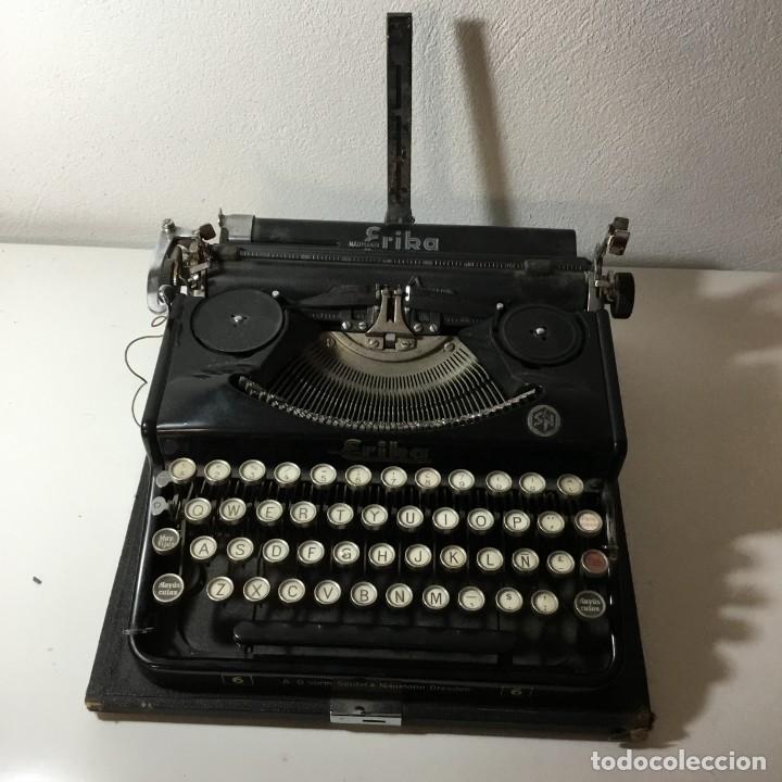 ERIKA A-G VORM.SEIDEL & NAUMANN 6 - DRESDEN MÁQUINA DE ESCRIBIR (Antigüedades - Técnicas - Máquinas de Escribir Antiguas - Erika)