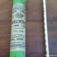 Antigüedades: MUY ANTIGUO DENSÍMETRO PARA ENOLOGÍA, DUJARDIN SALLERON PARIS.. Lote 223026765