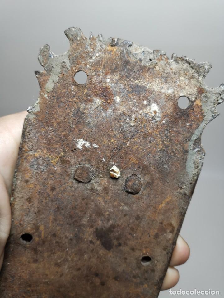 Antigüedades: PESTILLO PASADOR CERROJO FORJA MANUAL CATALUÑA ESPAÑA . S. XVIII . - Foto 5 - 223065041