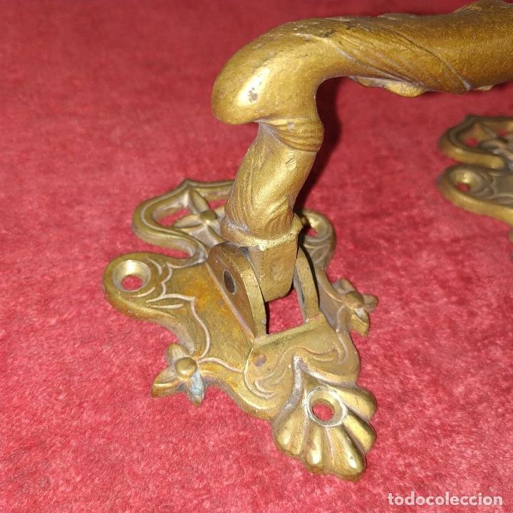 Antigüedades: LLAMADOR Y TIRADOR. BRONCE. HIERRO. ESPAÑA. SIGLO XIX - Foto 5 - 223110041