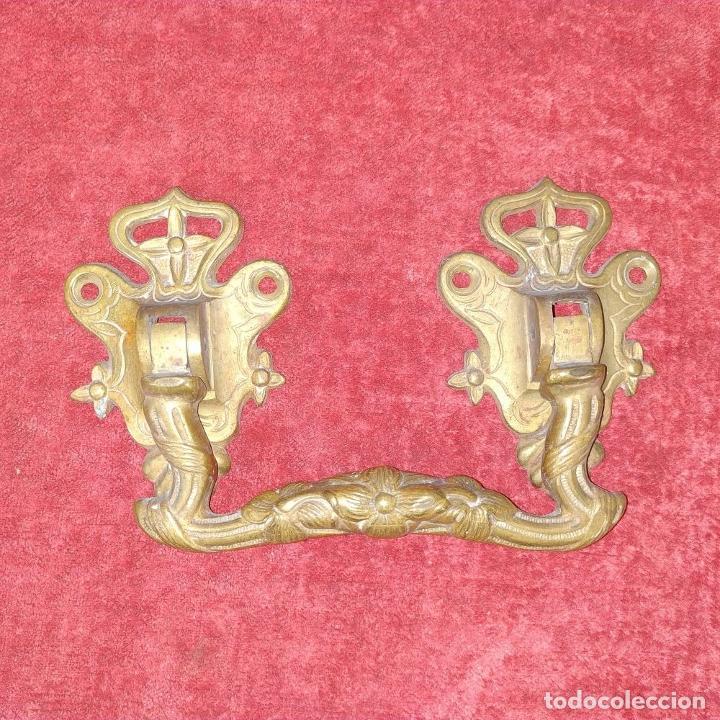 Antigüedades: LLAMADOR Y TIRADOR. BRONCE. HIERRO. ESPAÑA. SIGLO XIX - Foto 9 - 223110041