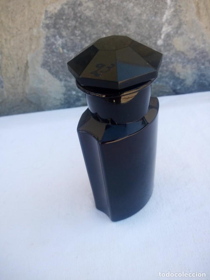 Antigüedades: Antiguo frasco de vidrio marrón oscuro de farmacia o botica coffein-natr.benzoic - Foto 3 - 223134373