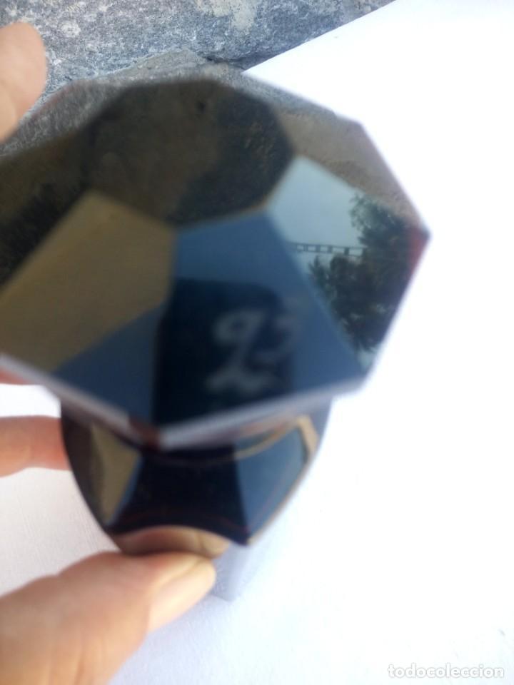 Antigüedades: Antiguo frasco de vidrio marrón oscuro de farmacia o botica coffein-natr.benzoic - Foto 4 - 223134373