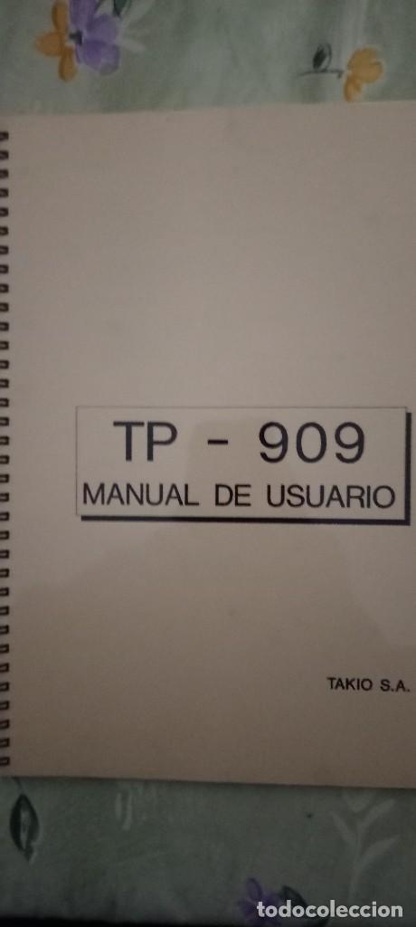 Antigüedades: Takio tp909 placa digital medidor tensión + manual usuario - Foto 3 - 223193080