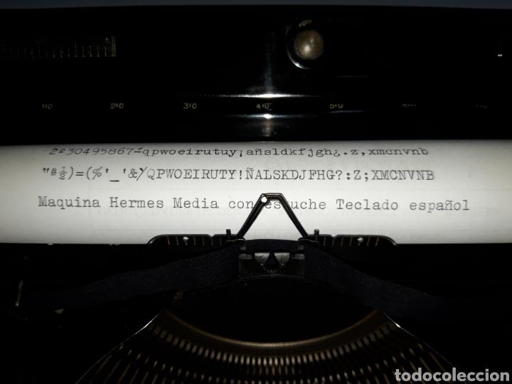 Antigüedades: ESCRIBIR TYPEWRITER SCHREIBMASCHINE HERMES MEDIA - Foto 6 - 223379438
