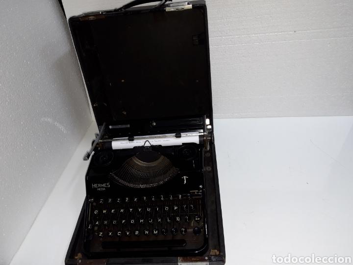 Antigüedades: ESCRIBIR TYPEWRITER SCHREIBMASCHINE HERMES MEDIA - Foto 7 - 223379438