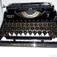 Antigüedades: ESCRIBIR TYPEWRITER SCHREIBMASCHINE HERMES MEDIA. Lote 223379438