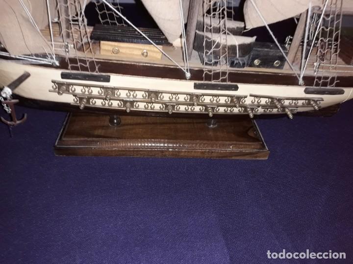 Antigüedades: Lote 12 Maquetas Barcos y 1 Cuadro Barco Nudos - Foto 3 - 223380707