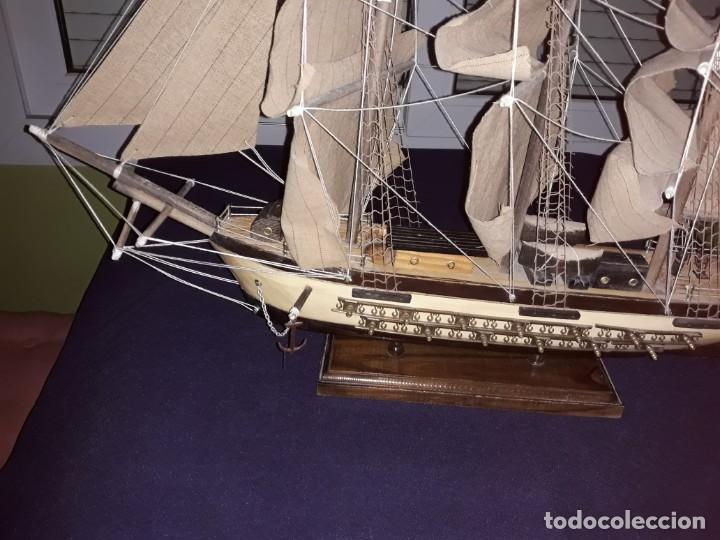 Antigüedades: Lote 12 Maquetas Barcos y 1 Cuadro Barco Nudos - Foto 4 - 223380707