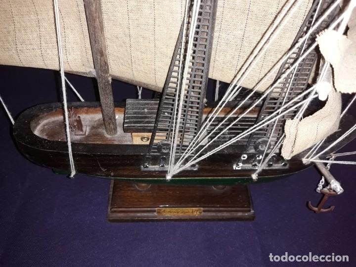 Antigüedades: Lote 12 Maquetas Barcos y 1 Cuadro Barco Nudos - Foto 6 - 223380707