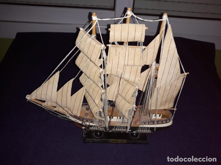 Antigüedades: Lote 12 Maquetas Barcos y 1 Cuadro Barco Nudos - Foto 7 - 223380707